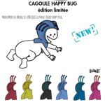 MANYMONTHS Collection LAINE/MANYMONTHS – CAGOULE «HAPPY BUG» en pure laine mérinos