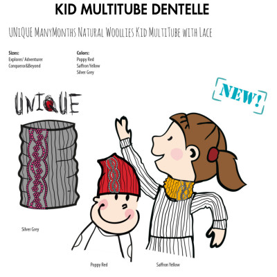 Racine MANYMONTHS – KID MULTITUBE DENTELLE en pure laine mérinos