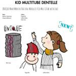 CHAPEAUX ET BONNETS/MANYMONTHS – KID MULTITUBE DENTELLE en pure laine mérinos