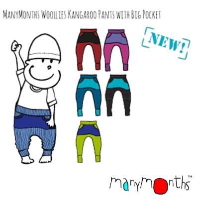 Racine MANYMONTHS – KANGAROO PANTS – Sarouel en pure laine mérinos
