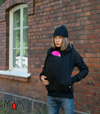 Racine MaM SOFTSHELL JACKET FOURRÉ - BLACK / ROCK GREY