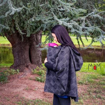 Vestes et manteaux MaM MaM AISKA PONCHO LAINE- HERINGBONE - Poncho de portage