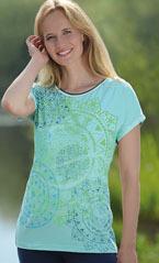 Racine T-shirt Mandala Dream vert menthe