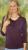 Idées Cadeaux/T-Shirt SURYA manches 3/4 aubergine