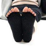 Chaussetttes à orteils anti-dérapantes – NOIR
