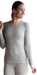 Vêtements et sous-vêtements laine et soie Engel Natur/SOUS-PULL en laine/soie FEMME Gris chiné