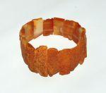 Idées Cadeaux/Bracelets d'ambre PLAQUES FINES Miel pour ADULTE