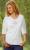 Idées Cadeaux/T-Shirt manches 3/4 fleurs de vie blanc