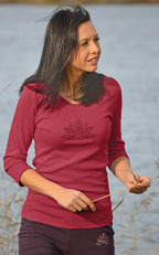 T-SHIRT Manches Longues T-Shirt LOTUS ANANDA ROUGE