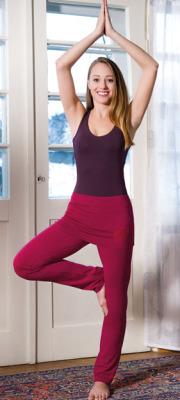 Racine PANTALON JUPE de yoga et bien-être ROUGE
