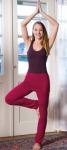 Racine/PANTALON JUPE de yoga et bien-être ROUGE