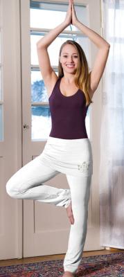 Racine PANTALON JUPE de yoga et bien-être Blanc