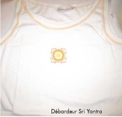 Idées Cadeaux Débardeur Blanc avec broderie Sri Yantra