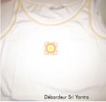 DEBARDEURS/Débardeur Blanc avec broderie Sri Yantra