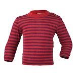 SOUS-VÊTEMENTS pour bébés et enfants/ENGEL – SOUS-PULL manches longues RAYURES  en laine/soie (86-152)
