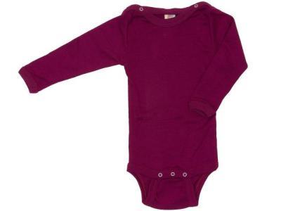 Sous-vêtements ENGEL - Body manches longues Orchidée en laine et soie
