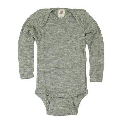 Sous-vêtements ENGEL - Body manches longues Gris en laine et soie
