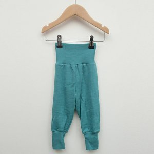 Sous-vêtements ENGEL –  Pantalon laine et soie à large ceinture Vert Menthe (62 au 92)