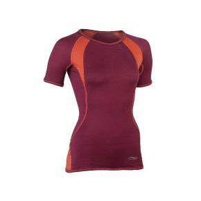 A TRIER T-shirt ENGEL manches courtes spécial sport rouge bordeaux/orange