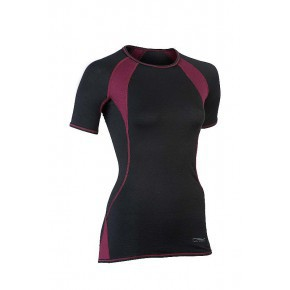 T-Shirt Manches courtes T-shirt ENGEL manches courtes spécial sport noir/rouge bordeaux