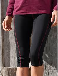 Idées Cadeaux Leggings 3/4 sport femme noir coutures bordeaux