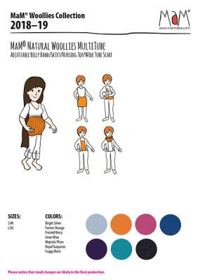 Vêtements MaM - MaD Laine MaM MULTITUBE 2018/19 laine mérinos – Bandeau de grossesse et top d'allaitement