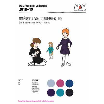 Vêtements MaM - MaD Laine MaM Natural Woollies 2018/19 – TUNIQUE de matenité /Allaitement en laine mérinos