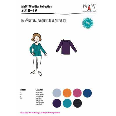 Vêtements MaM - MaD Laine MaM Natural Woollies 2018/19 – t-shirt adulte manches longues en laine - Manymonths