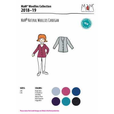 Vêtements MaM - MaD Laine MaM Natural Woollies 2018/19 - GILET ADULTE en pure laine merinos