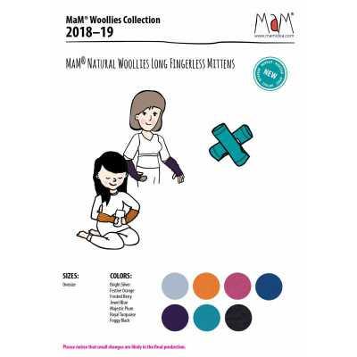 A TRIER MaM Natural Woollies 2018/19 – Mitianes  Longues pour Adultes en pure laine merinos