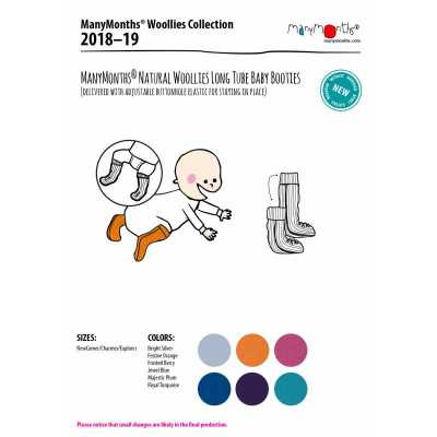 Idées Cadeaux MANYMONTHS 2018/19 – CHAUSSONS DE PORTAGE ajustables et reversibles en laine