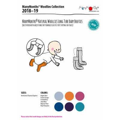 Laine Bio 2018-2019 MANYMONTHS 2018/19 – CHAUSSONS DE PORTAGE ajustables et reversibles en laine
