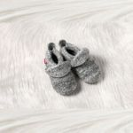 Chaussons POLOLO 2018/19 en laine uni gris chiné tailles (20/21-34/35)