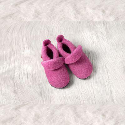Chaussons et Chaussures Chaussons POLOLO 2018/19 en laine uni rose tailles (20/21-34/35)