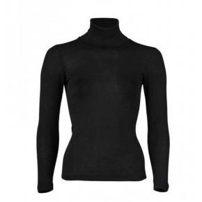 A TRIER ENGEL - Sous-pull col roulé en laine/soie femme Noir