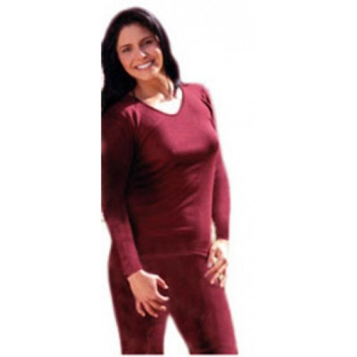 Racine ENGEL 2019 - SOUS PULL FEMME MANCHES LONGUES ROUGE RUBIS