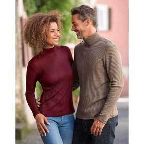 Vêtements et sous-vêtements laine et soie Engel Natur ENGEL 2019 - TRICOT COL CHEMINÉE BORDEAUX FEMME
