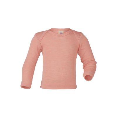 Sous-vêtements ENGEL 2019- NOUVEAU SOUS PULL BEBE ROSE SAUMONÉE EN  LAINE ET SOIE (62-104)