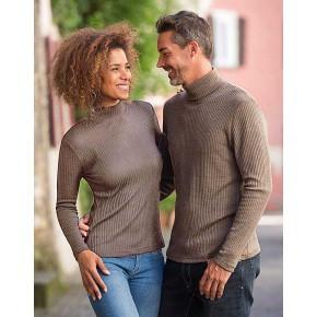 Vêtements et sous-vêtements laine et soie Engel Natur ENGEL 2019 - NOUVEAU TRICOT COL CHEMINÉE NOISETTE FEMME