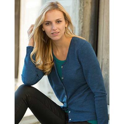 Vêtements et sous-vêtements laine et soie Engel Natur ENGEL 2019 - CARDIGAN FEMME 100% LAINE MERINOS BLEU SAPHIR