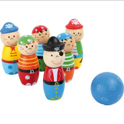 Racine Lelgler - Small foot Jeu de bowling en bois pirates