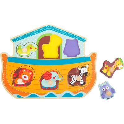 Jeux et Jouets Lelgler - Small foot Baby Puzzle en bois Arche de Noé