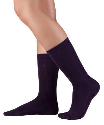Chaussettes à doigts KNITIDO Chaussetttes à orteils coton – VIOLET