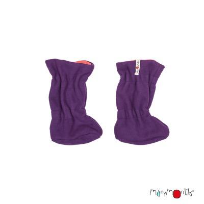 Chaussons de portage MANYMONTHS 2019/20 - Chaussons de portage ajustables et reversibles laine mérinos et polaire MaM TEC