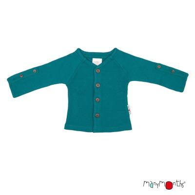 Débardeurs, T-shirts, pulls, gilets, multicapes et bodys MANYMONTHS 2019/20 – GILET en pure laine mérinos