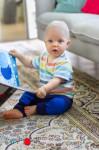 Racine/MANYMONTHS 2019/20 - Leggings protèges genoux unisex pour enfants en pure laine mérinos