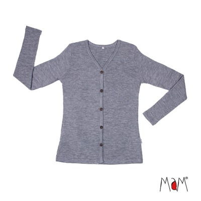 Racine MaM 2019/20 Natural Woollies - Gilet adulte en pure laine merinos