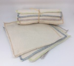 Racine/Lingettes lavables Multi-usages pour bébé en coton bio (bi-face)