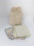 Carrés démaquillants (bi-face) lavables en coton bio
