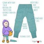 Eté 2020 - Chanvre et coton bio/Eté 2020 - Pantalon/short Yoga Trousers ajustable et évolutif (Disponible fin mai, début juin)